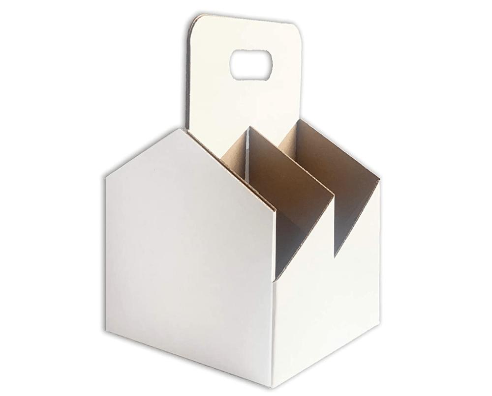 Image of 4 Pack Wine Cardboard Carrier