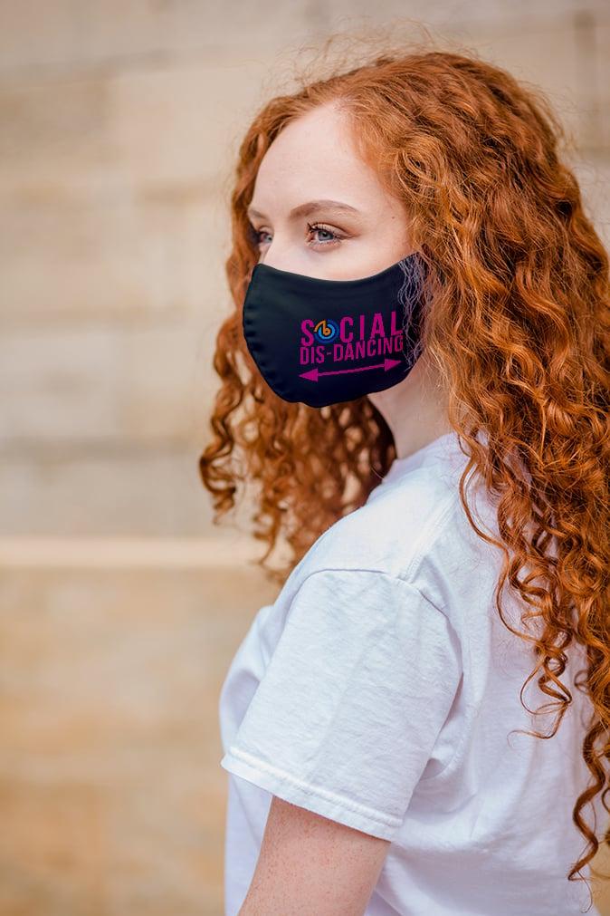 Pink Social Dis-Dancing Mask