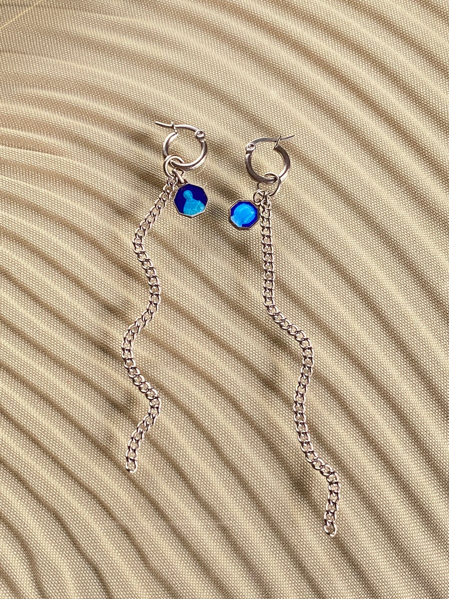 Image of MINI BLUE MARIA HOOPS