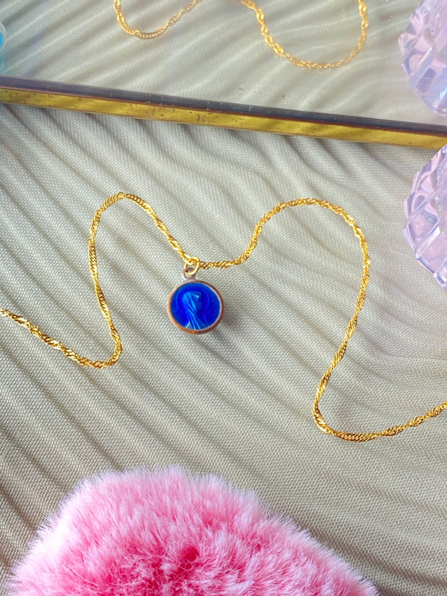 Image of BLUE MARIA NECKLACE