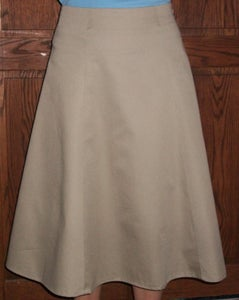 Image of Tan Twill skirt