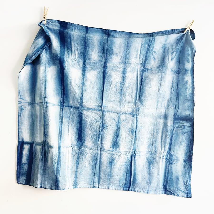 Image of Indigo Dyed Multi Use Cotton Cloth