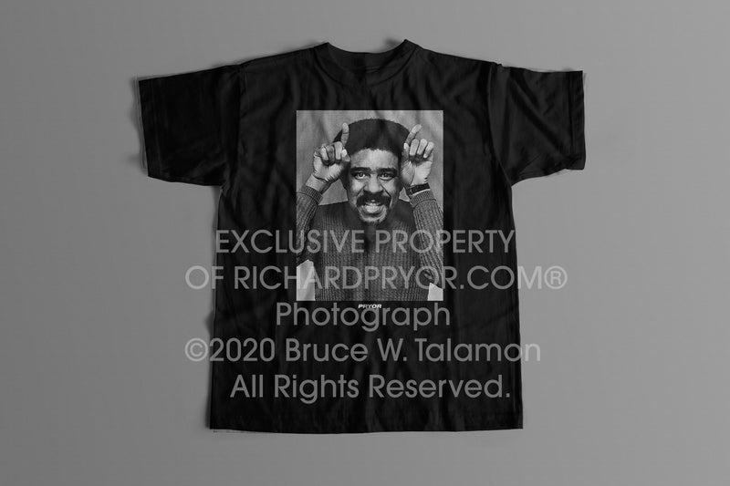Official Richard Pryor® Horns Tee. Trademark Protected Content.
