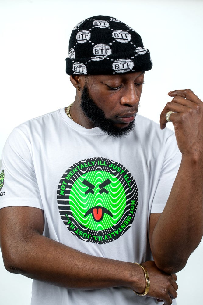 Image of BTF GREEN FACE WHITE T-SHIRT