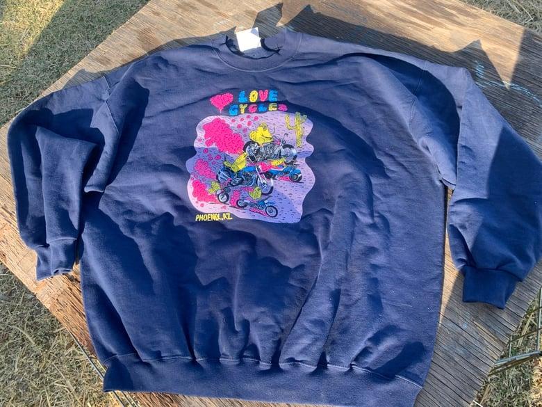 Image of Navy Desert Bunnies Crewneck Sweatshirt