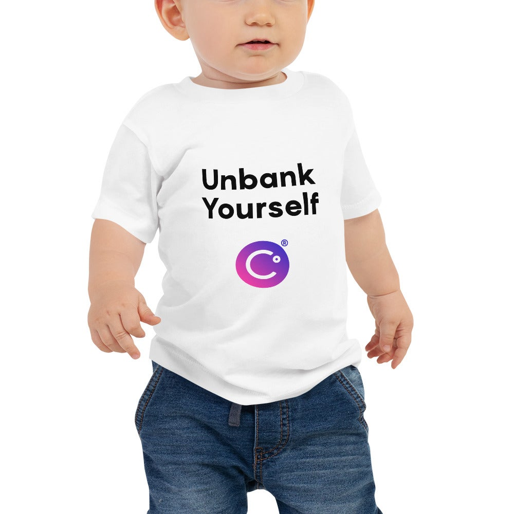 Image of Unbank Yourself White Baby T-Shirt