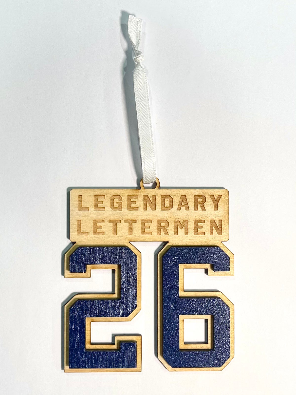 Image of Legendary Lettermen #26 Wood Ornament