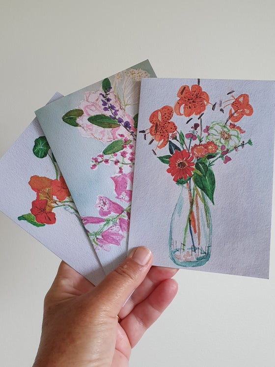 Image of Watercolour greeting cards