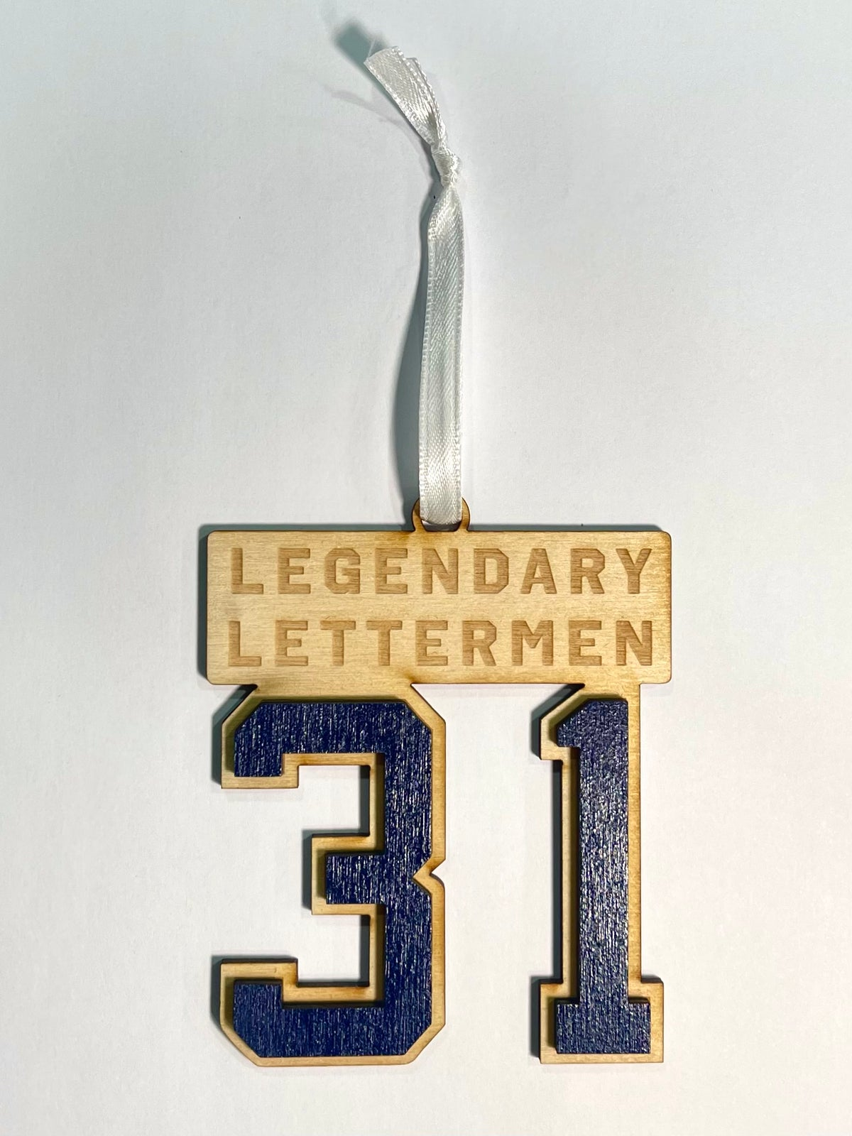 Image of Legendary Lettermen #31 Wood Ornament
