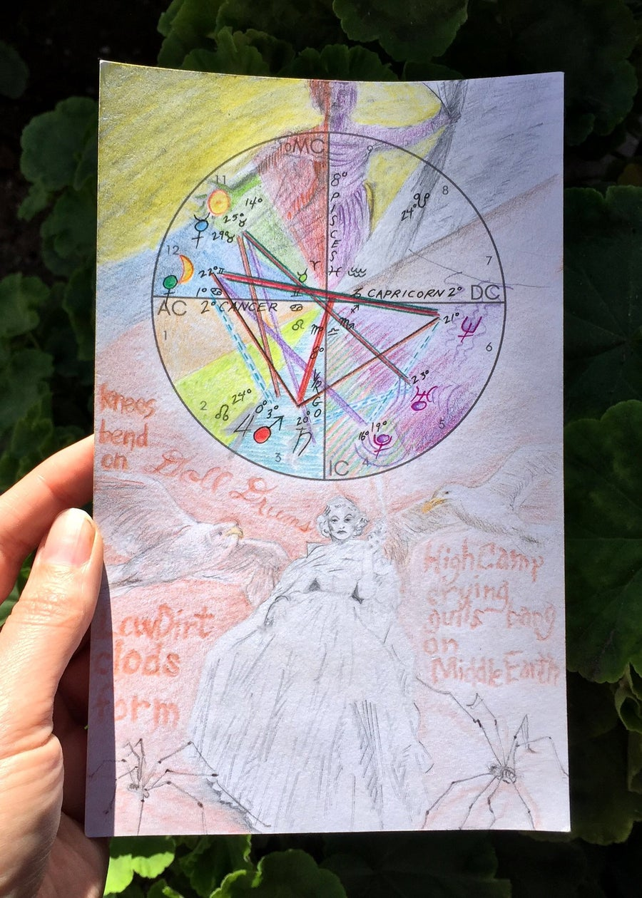 Image of GIFT: Hand-drawn astrology birth chart, video session & booklet
