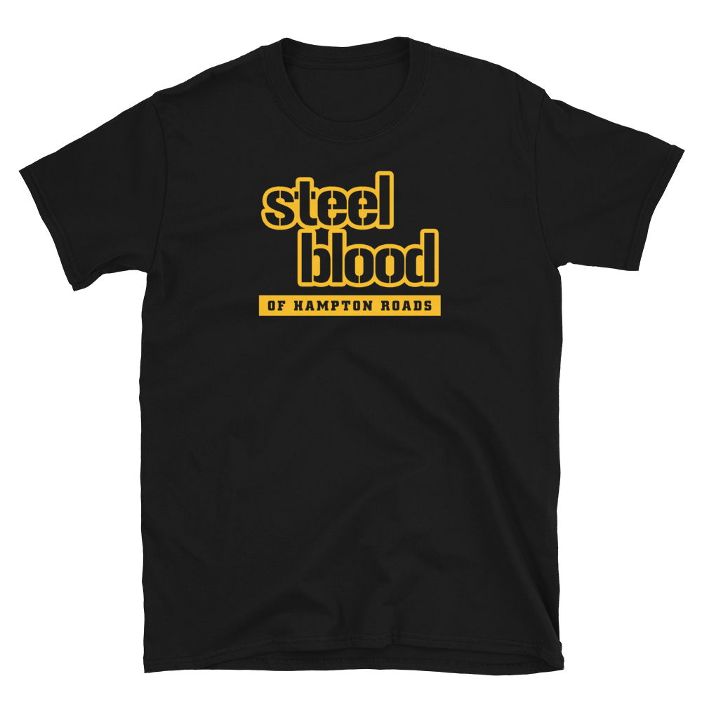 STEEL BLOOD OF HAMPTON ROADS - SBHR TERRIBLE LOGO (BLACK) - T-SHIRT