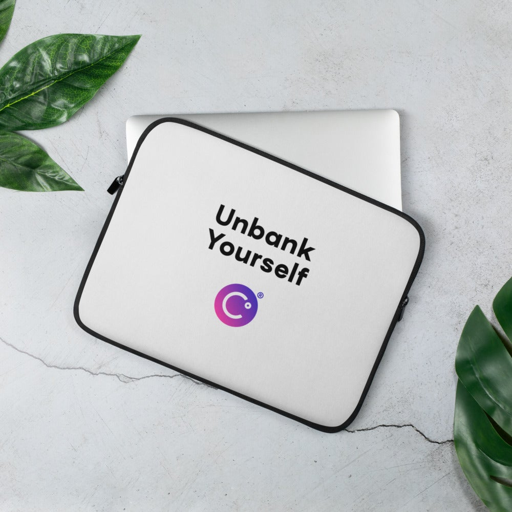Image of Unbank Yourself Laptop Sleeve
