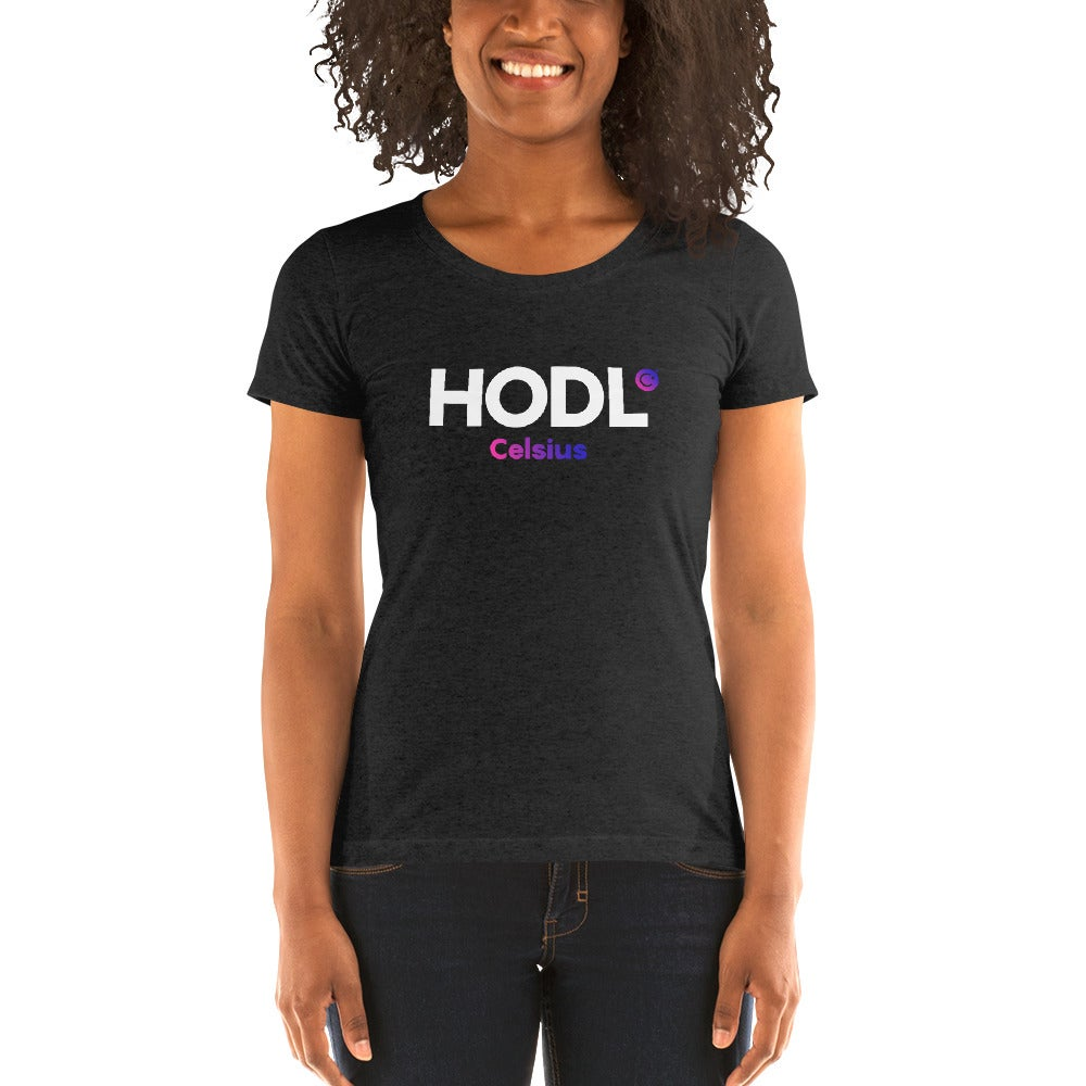 Image of HODL Ladies' Fitted Black T-shirt