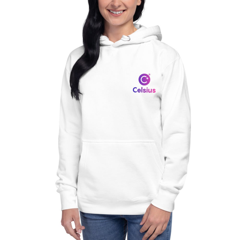 Image of Celsius Unisex White Hoodie