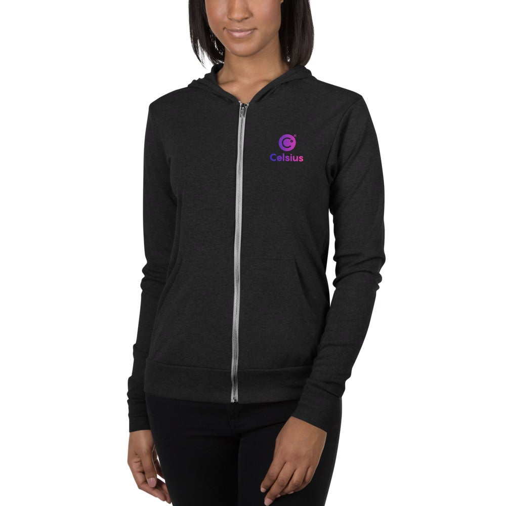 Image of Celsius Unisex Black Zip Hoodie