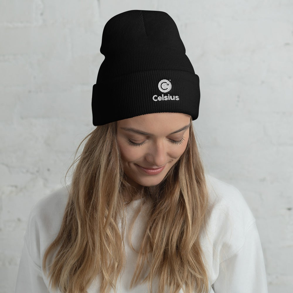 Image of Celsius Cuffed Black Beanie