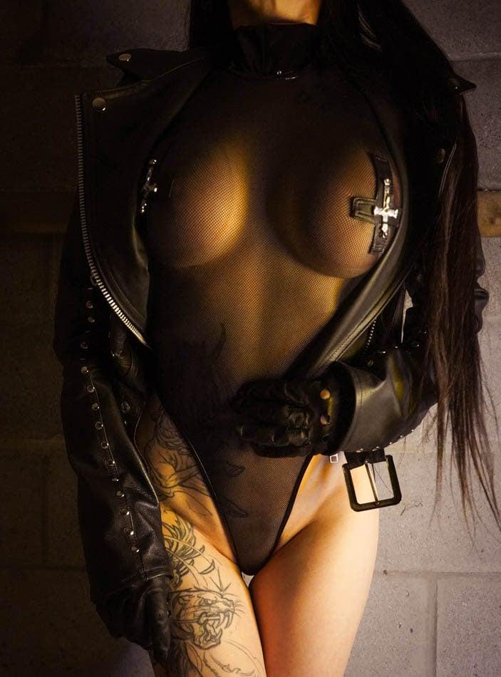 Image of Toxic Vision Holy War short sleeve bodysuit
