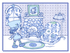Blueberry Muffin Home Sweet Home Matted Print