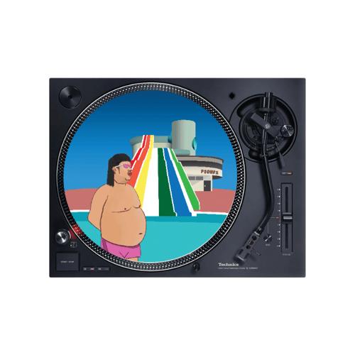 """Image of Peonfx x Woofmeow 12"""" slipmat - Big Splash"""