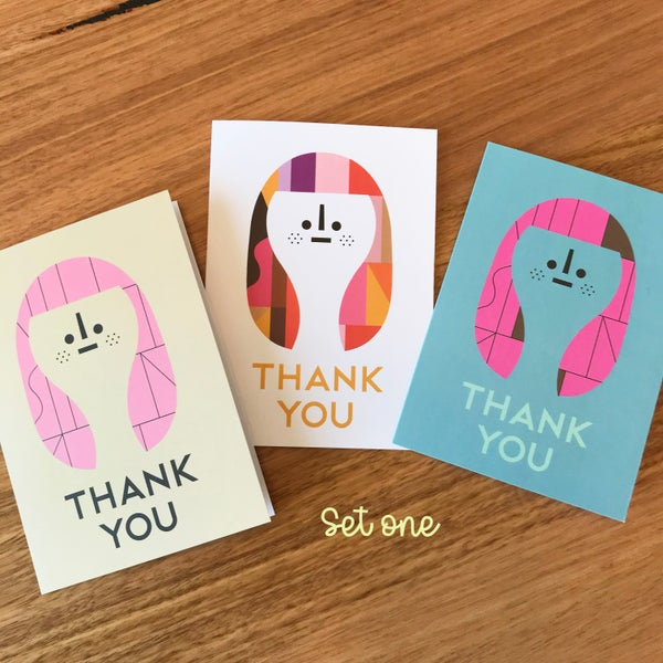 Image of Thank you Cards - Set of 3 *Set No.1*