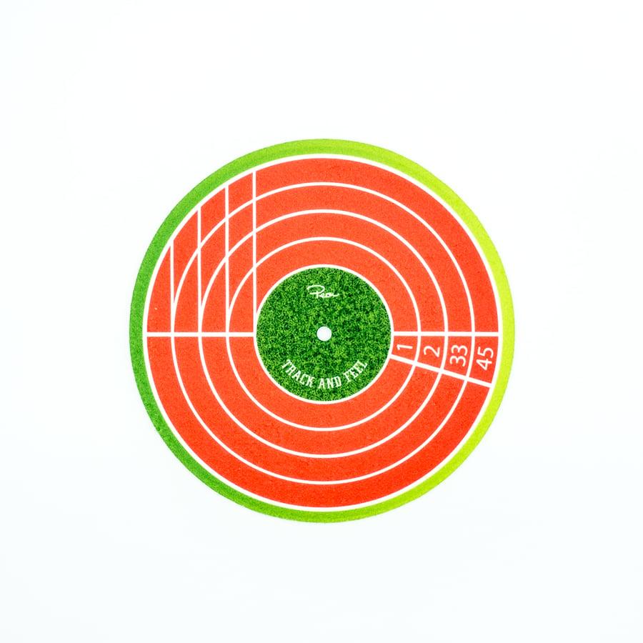"Image of Peonfx x Woofmeow 7"" slipmat - Track & Feel"