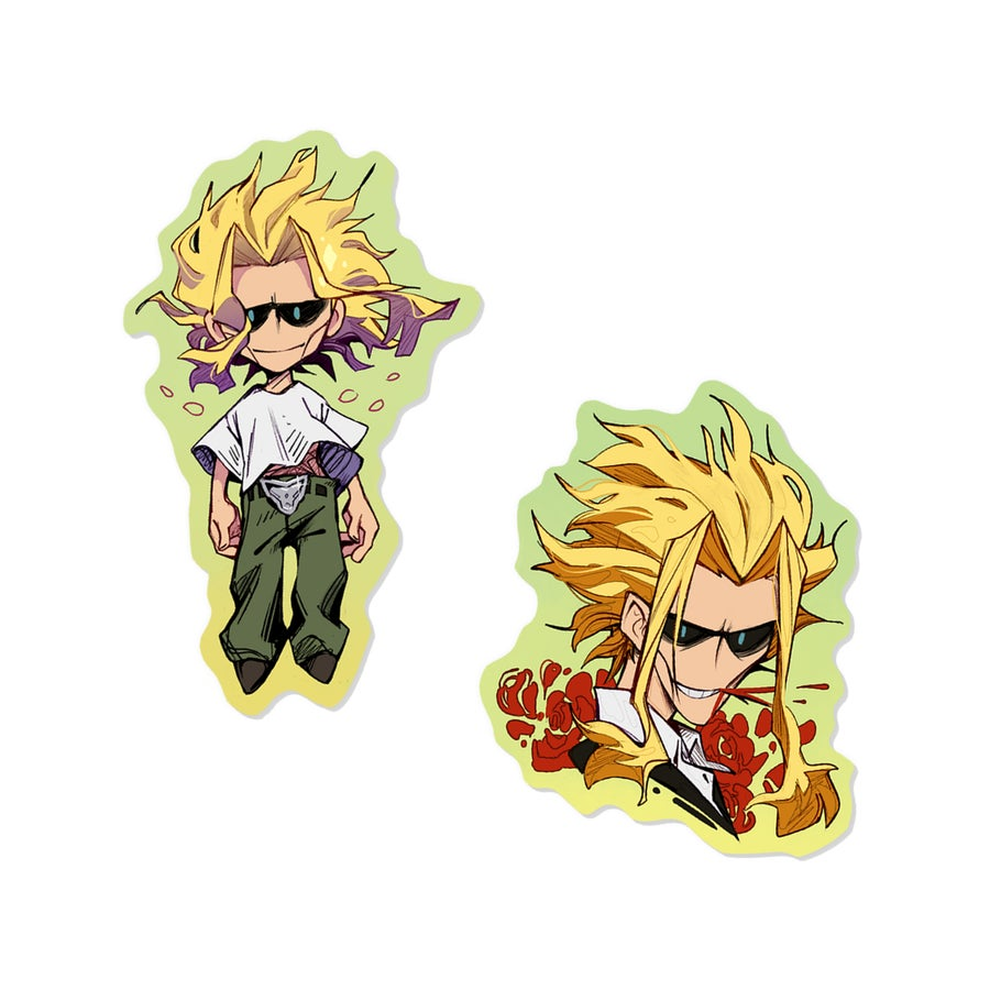Image of ✧ All Might holographic STICKERS ✧