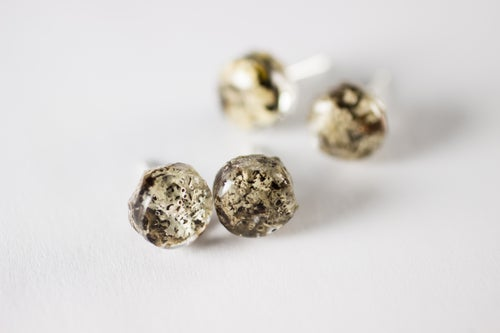 Image of Lichen Specimen Post Earrings