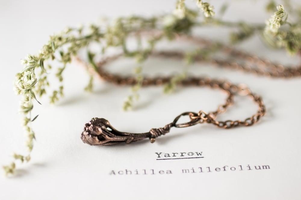 Image of Yarrow Sprig Copper Necklace #1