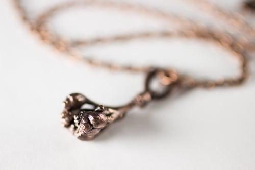 Image of Yarrow Sprig Copper Necklace #3