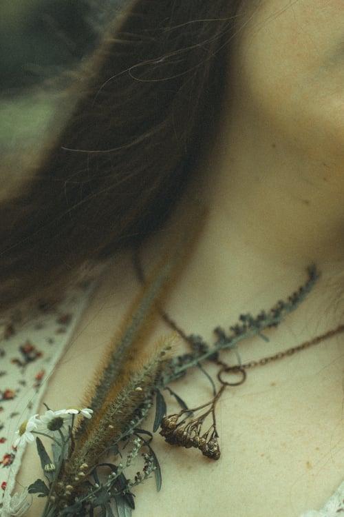 Image of Yarrow Sprig Copper Necklace #4