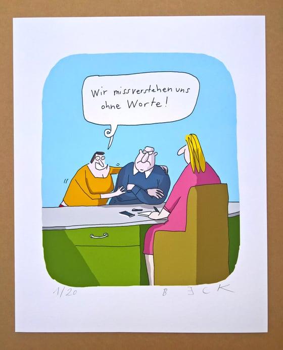 Image of Missverstehen ohne Worte, Print