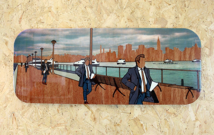 Image of 'On The Waterfront' 100x40cm, number 4 of 5 *last one*