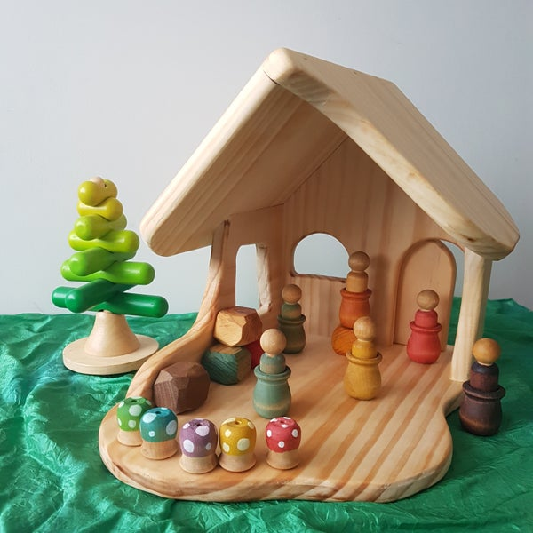 Image of Waldorf Wooden Doll House