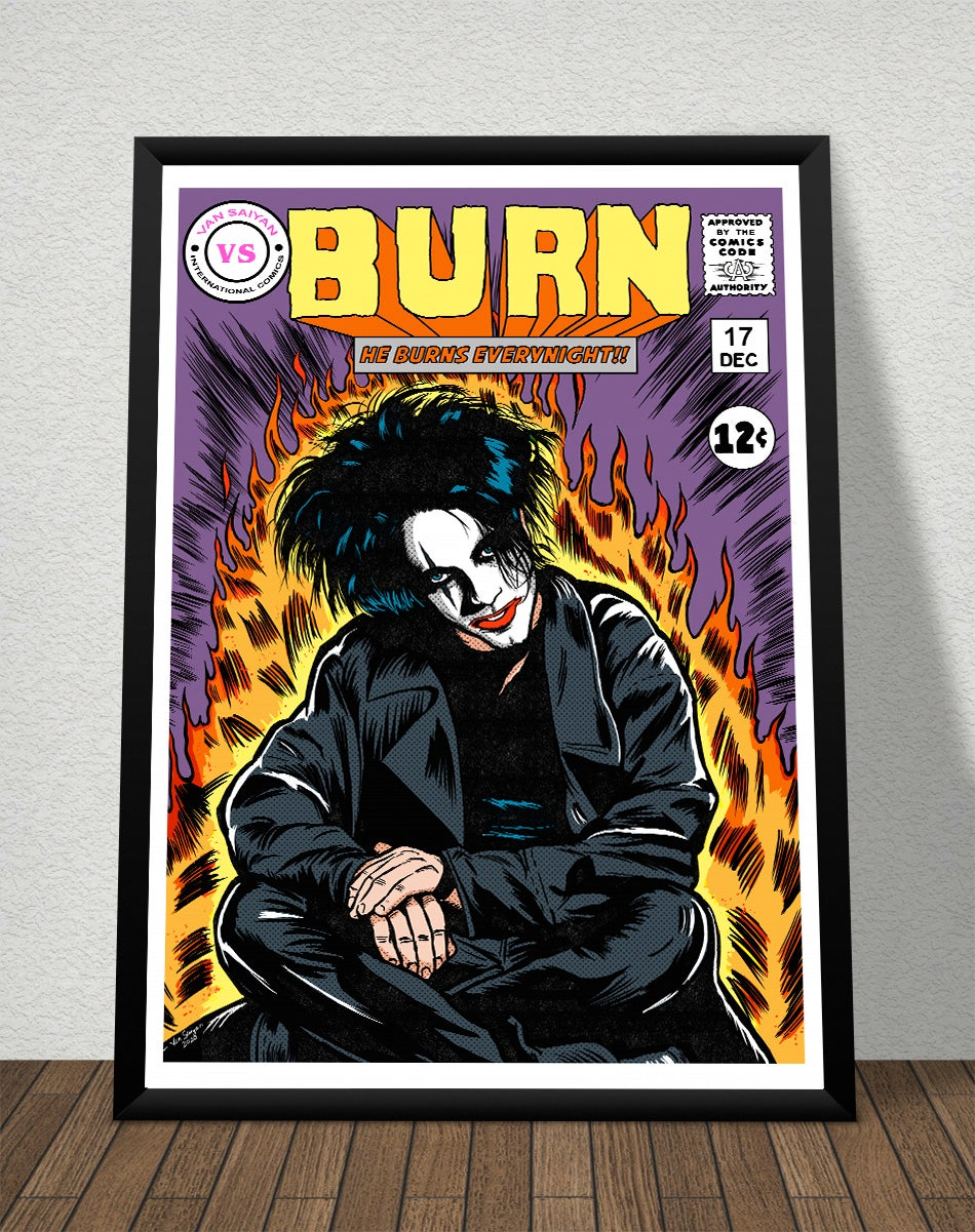 The Cure Burn Poster