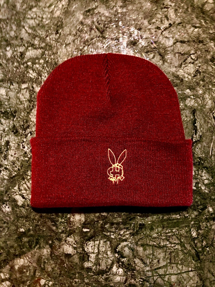 "Image of ""Bunny Apotheke"" Ron Burgundy Support Beanie"