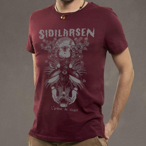 """Image of T-shirt homme burgundy """"L'ardeur du vivant"""""""