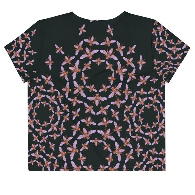Image of Kaleidoscope Bee Crop T-shirt