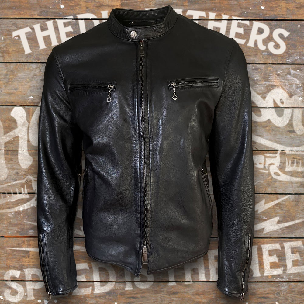 Image of THEDI LEATHERS HORSEHIDE CAFE RACER JACKET