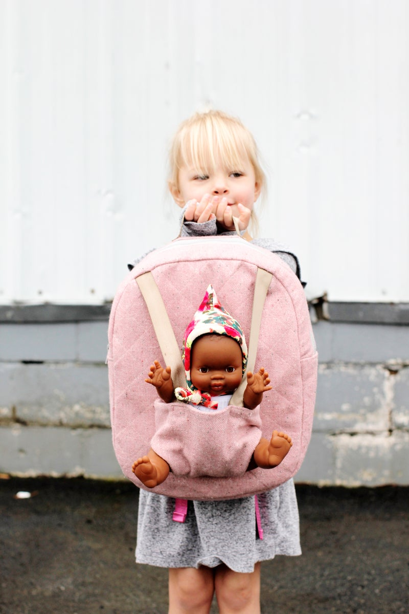 Image of BABY DOLL CARRIER BACKPACK PDF Pattern