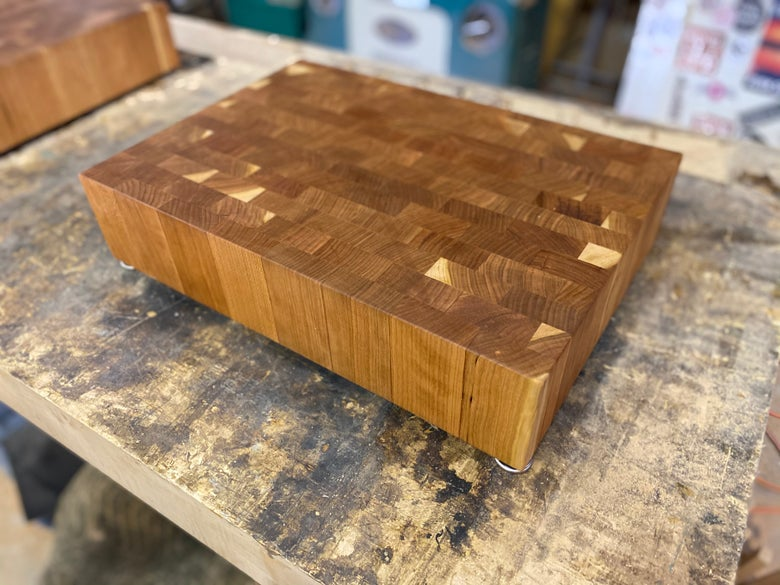 Image of End Grain Cutting Board 2 (cherry)