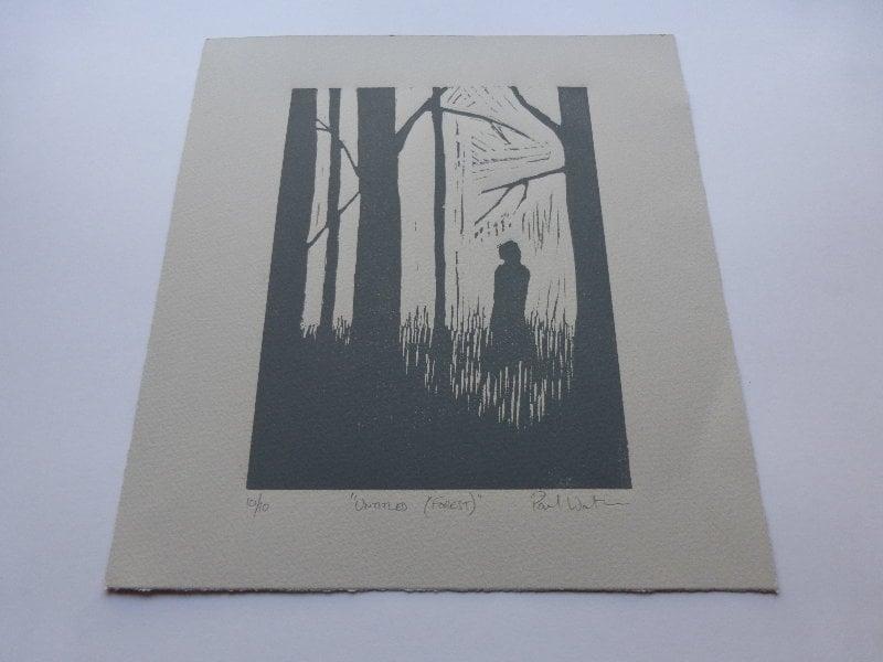 Untitled (Forest) - Linoprint by Paul Watson
