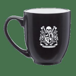 Image of Haunted Saginaw Crest 16 oz. Bistro Style Mug [Pre-order ships 1/1/21]