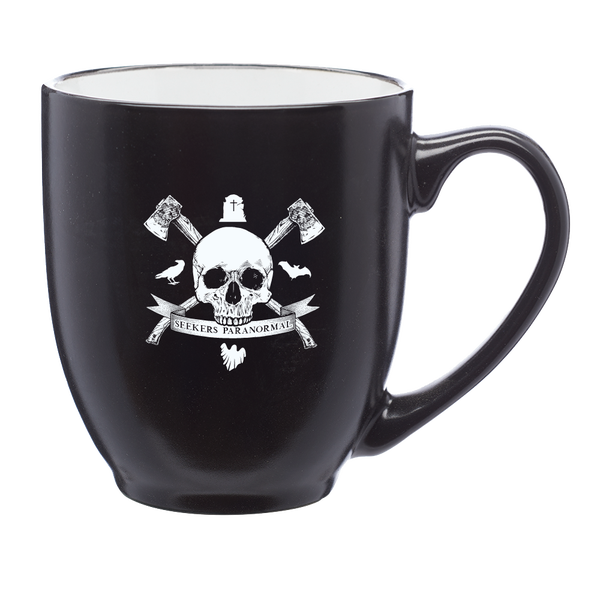 Image of Haunted Saginaw Crest 16 oz. Bistro Style Mug [Pre-order ships 1/1/21]