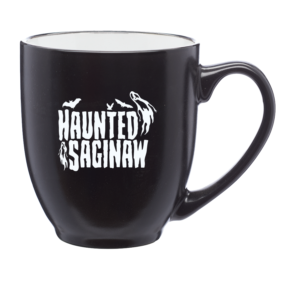 Image of Haunted Saginaw House 16 oz. Bistro Style Mug [Pre-order ships 1/1/21] No file chosen