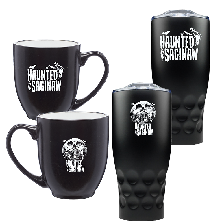 Image of Haunted Saginaw House Bistro Mug and Stainless Steel Tumbler Combo [Pre-Order Ships 1/1/21]