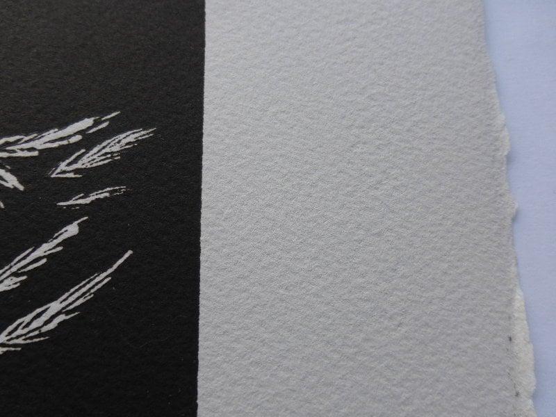 Seated Figure - Linoprint by Paul Watson