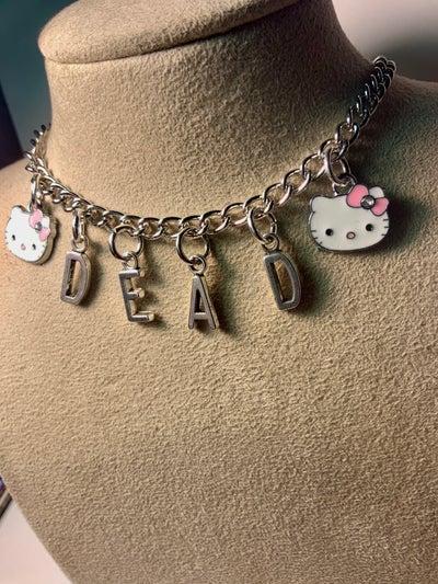 Image of DEAD Hello Kitty Necklace
