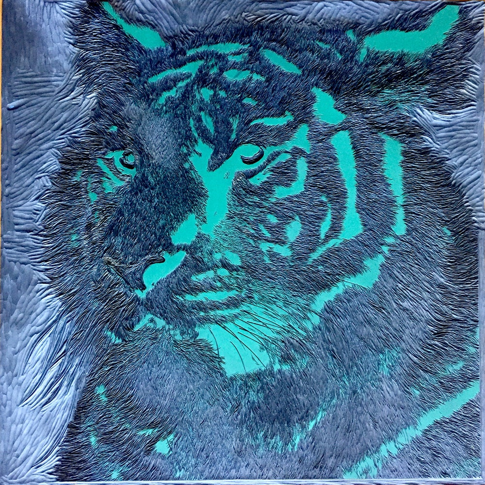 """Image of """"Bring on the Year of the Tiger"""", Reduction Linocut, introductory price"""