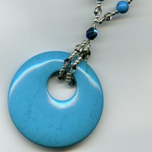 Image of Turquoise Donut Necklace