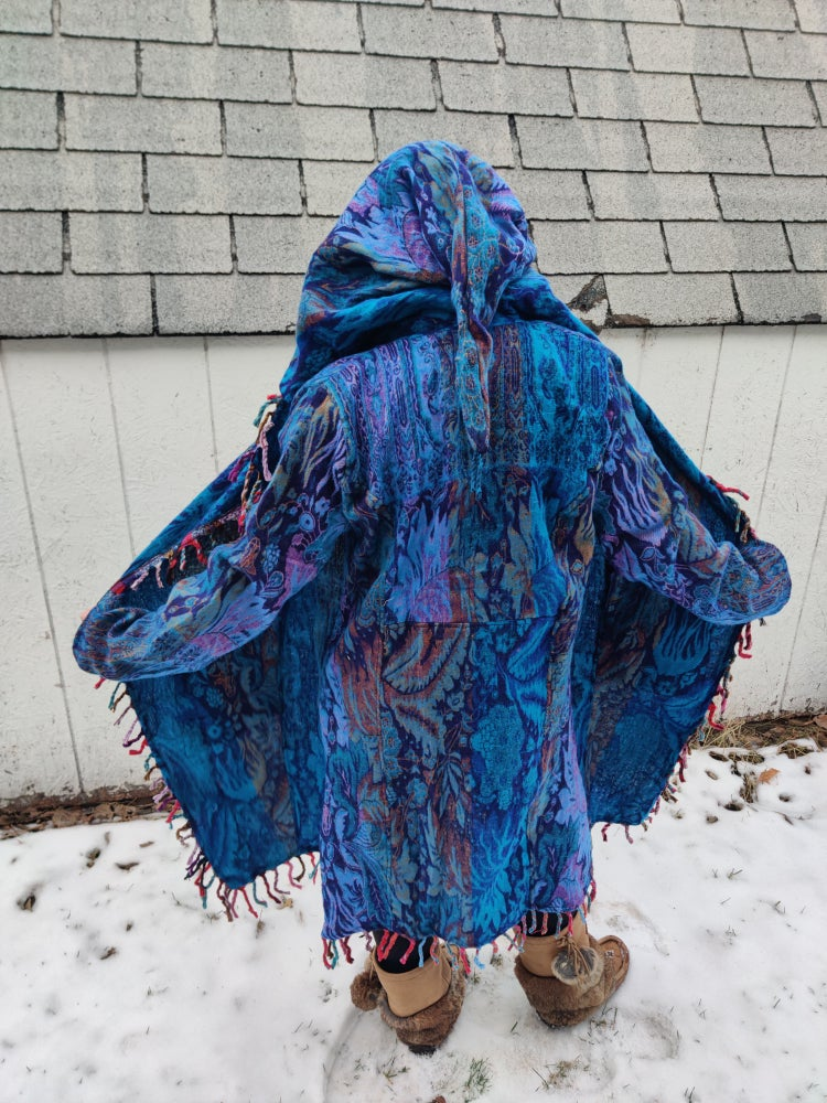 Image of Funkadelic Fringe Coat Blue